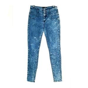 Refuge High Waist Skinny Blue Jeans